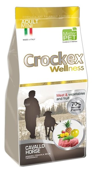 Корм для собак Crockex Wellness Adult Mini конина с рисом