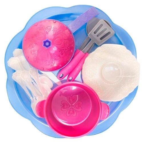 Набор посуды Нордпласт Волшебная хозяюшка 616 розовый/фиолетовый/голубой ролевые игры нордпласт набор волшебная хозяюшка 12 предметов