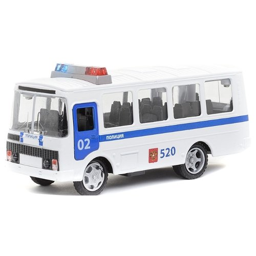 Автобус ТЕХНОПАРК ПАЗ 3205 Полиция (CT11-257-5) 1:43 белый технопарк автобус технопарк аэропорт 18 5 см