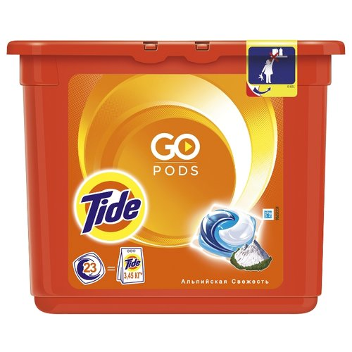 Капсулы Tide Альпийская свежесть, контейнер, 23 шт