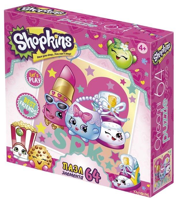 Пазл Origami Shopkins Стильные штучки (02964), 64 дет.