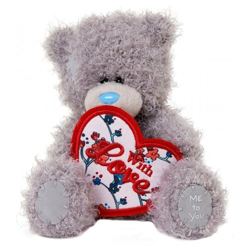 Купить Мягкая игрушка Me to you Мишка Тедди с сердцем With love 13 см, Мягкие игрушки