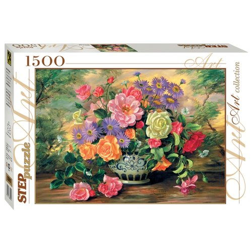 Пазл Step puzzle Art Collection Цветы в вазе (83019), 1500 дет. пазл step puzzle travel collection водопад 83004 1500 дет