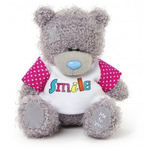 Мягкая игрушка Me to you Мишка Тедди в футболке Smile 10 см