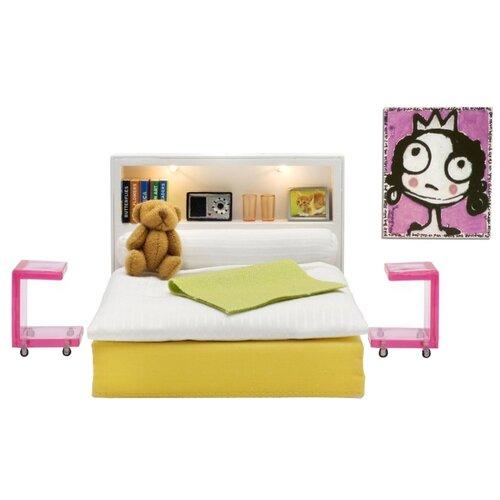 Купить Lundby Набор мебели для спальни Стокгольм (LB_60904700) белый/зеленый/розовый, Мебель для кукол