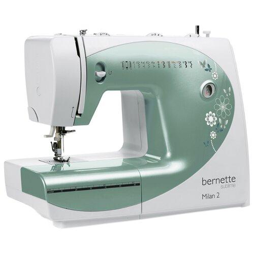 Швейная машина Bernina Bernette Milan 2, бело-зеленый
