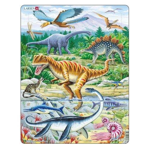 Фото - Рамка-вкладыш Larsen Динозавры (FH16), 35 дет. рамка вкладыш larsen россия k50 100 дет