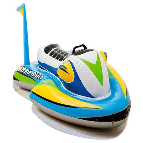 Купить Надувная игрушка-наездник Intex Гидроцикл 57520 белый/голубой/желтый, Надувные игрушки
