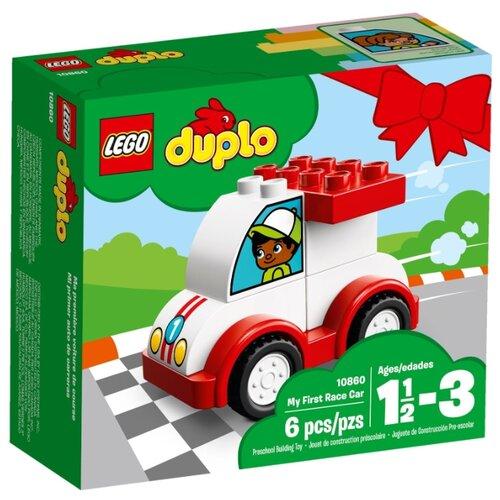 Купить Конструктор LEGO Duplo 10860 Мой первый гоночный автомобиль, Конструкторы