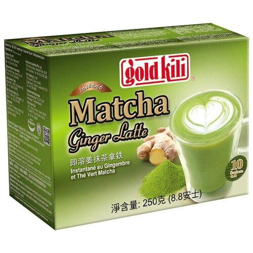 Чайный напиток Gold kili Matcha ginger latte растворимый в пакетиках, 10 шт. имбирь натуральный gold kili пакетированный 80 г 20 саше