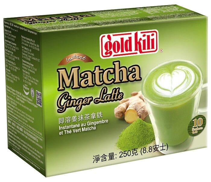 Чайный напиток Gold kili Matcha ginger latte растворимый в пакетиках