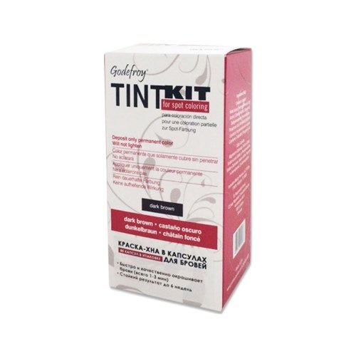 Godefroy Краска-хна синтетическая в капсулах для бровей Tint Kit, 80 штук dark brown godefroy синтетическая краска хна в капсулах для бровей черный l tint kit black 80 капсул