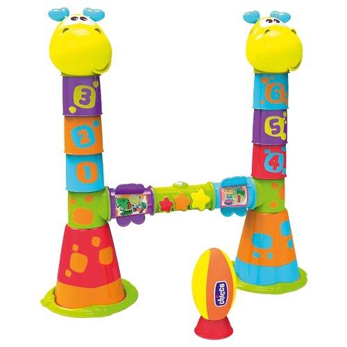 Купить Игровой центр Chicco Fit&Fun Регби (79050) желтый/фиолетовый/голубой, Спортивные игры и игрушки