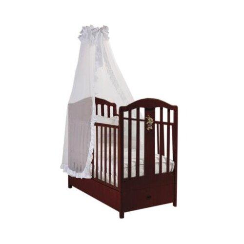 Купить Кроватка Feretti Ricordo FMS (классическая), продольный маятник темный орех, Кроватки