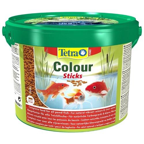 Сухой корм для рыб Tetra Pond Colour Sticks 10000 мл сухой корм для рыб tetra pond koi sticks 15000 мл