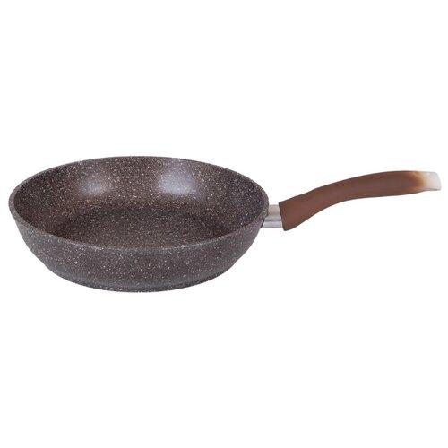 Сковорода Kukmara Мраморная 241а 24 см, кофейный мрамор сковорода d 24 см kukmara кофейный мрамор смки240а