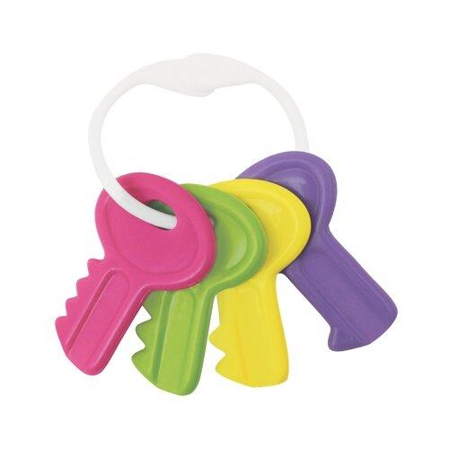 Прорезыватель-погремушка Lubby Ключи розовый/фиолетовый прорезыватели lubby погремушка от 4 мес