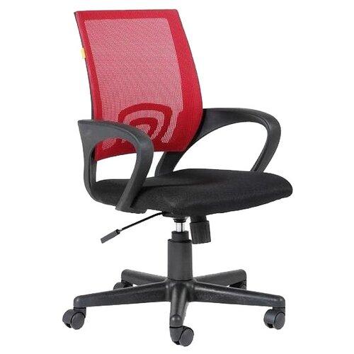 Компьютерное кресло Chairman 696 офисное, обивка: текстиль, цвет: черный/красный недорого