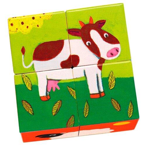 цена на Кубики-пазлы DJECO Ферма