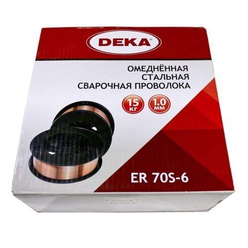 Проволока из металлического сплава Deka ER70S-6 1мм 15кг.