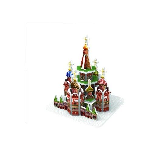 Купить 3D-пазл IQ Puzzle 3D Собор Василия Блаженного (17032), 25 дет., Пазлы