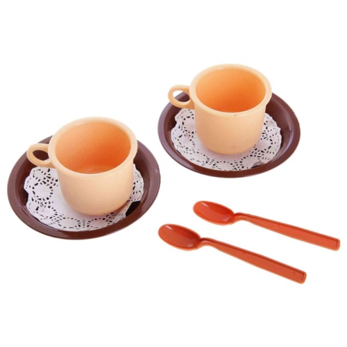 Набор посуды Росигрушка Чайная пара Милк 9254 коричневый/бежевый росигрушка набор игрушечной посуды первый блин