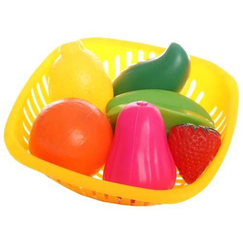 Купить Набор продуктов с посудой EstaBella Фрукты и ягоды 62094 разноцветный, Игрушечная еда и посуда