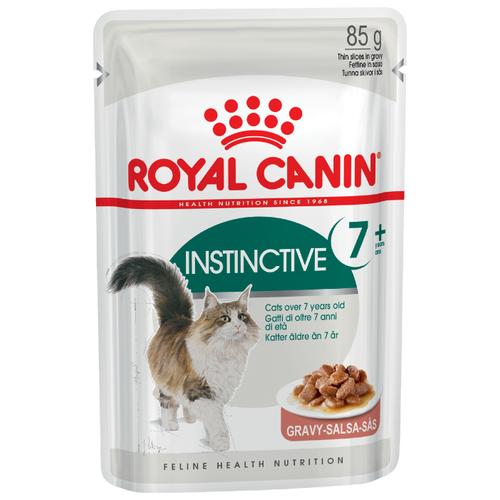 Корм для пожилых кошек Royal Canin Instinctive +7 для профилактики МКБ, мясное ассорти 85 г (кусочки в соусе) cat wet food royal canin kitten sterilized kitches for kittens pieces in sauce 24 85 g