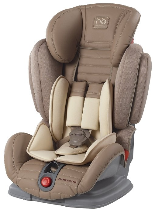 Автокресло группа 1/2/3 (9-36 кг) Happy Baby Mustang beige