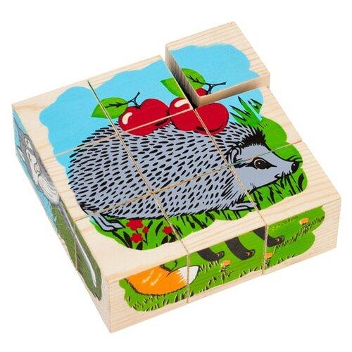 Кубики-пазлы Томик Животные леса 4444-4 томик кубики алфавит с цифрами