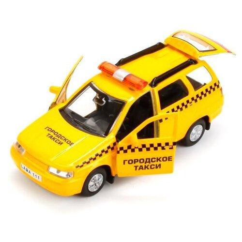 Купить Легковой автомобиль ТЕХНОПАРК Lada 111 Такси (SB-16-67-T-WB) 12 см желтый, Машинки и техника