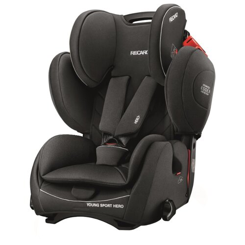 Автокресло группа 1/2/3 (9-36 кг) Recaro Young Sport Hero, Performance Black автокресло группа 1 2 3 9 36 кг recaro young sport hero carbon black