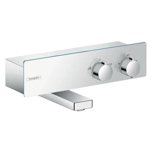 Смеситель для ванны с подключением душа hansgrohe ShowerTablet 350 13107000 двухрычажный с термостатом смеситель для душа hansgrohe showertablet 13102000 с термостатом хром