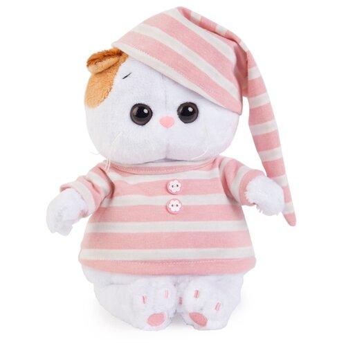 Купить Мягкая игрушка Basik&Co Кошка Ли-Ли baby в полосатой пижамке 20 см, Мягкие игрушки