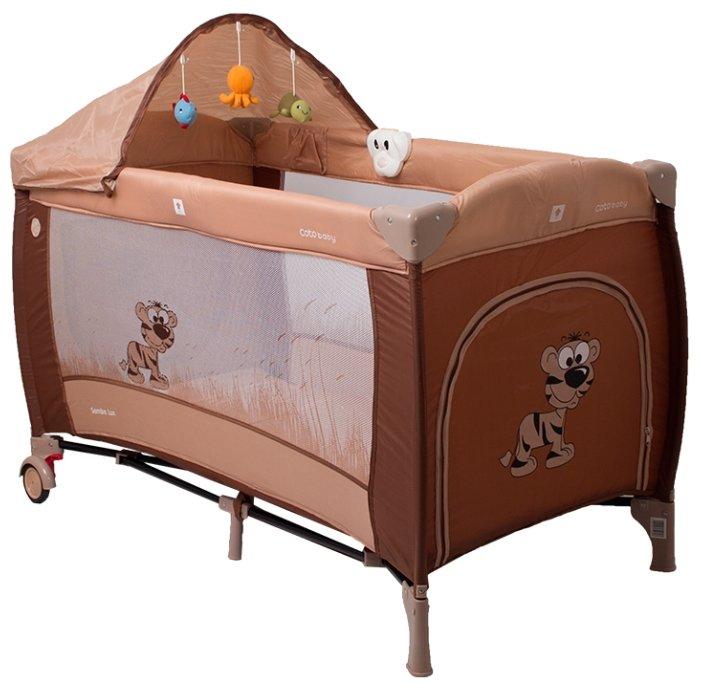 Манеж кровать Coto Baby Samba Lux Розовый 10