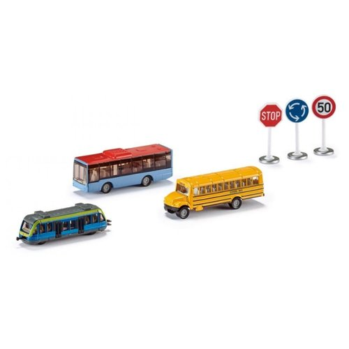 Купить Набор машин Siku Транспорт и дорожные знаки (6303) 1:87, Машинки и техника