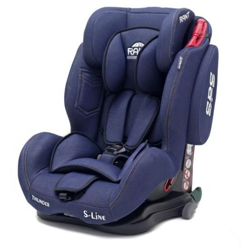 Автокресло группа 1/2/3 (9-36 кг) RANT Thunder Ultra SPS Isofix, blue jeans группа 1 2 3 от 9 до 36 кг indigo thunder pro isofix sps