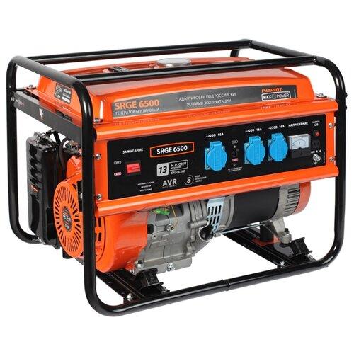 Фото - Бензиновый генератор PATRIOT Max Power SRGE 6500 (474 10 3166) (5000 Вт) генератор бензиновый patriot max power srge 6500e