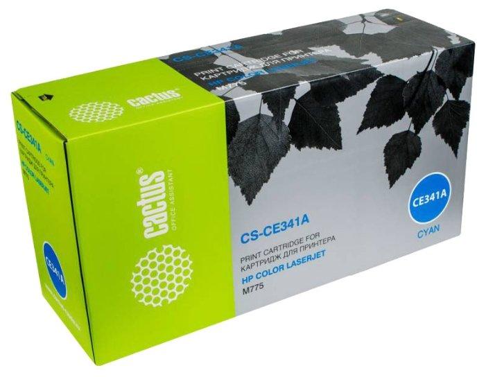 Тонер картридж для HP LaserJet Enterprise 700 color MFP M775dn, M775f, M775z, M775z+ (Cactus CS-CE341AV) (голубой) - Картридж для принтера, МФУ