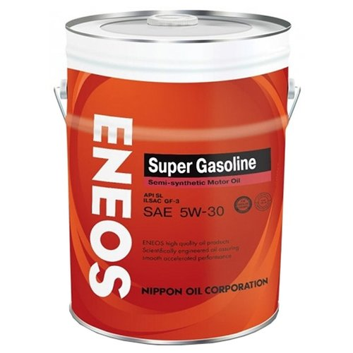 Моторное масло ENEOS Super Gasoline SL 5W-30 20 л 5w30 легковое масло моторное eneos super gasoline sl 5 30 200 л