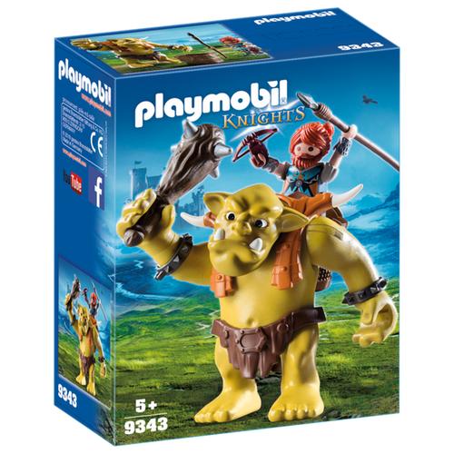 Купить Набор с элементами конструктора Playmobil Knights 9343 Гигантский тролль с рюкзаком для гнома, Конструкторы