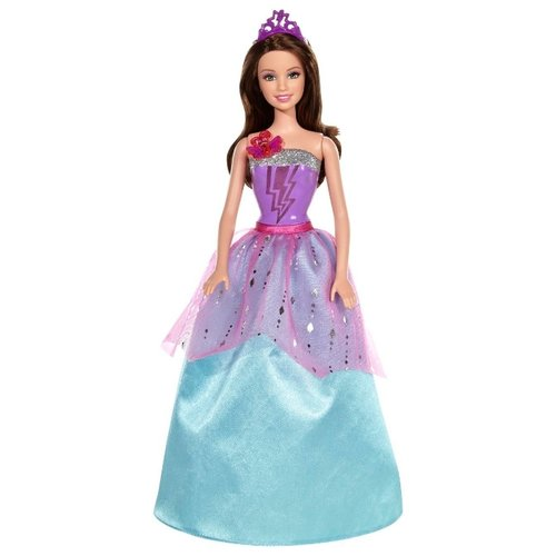 Интерактивная кукла Barbie Супер-принцесса Корин, 29 см, CDY62, Куклы и пупсы  - купить со скидкой