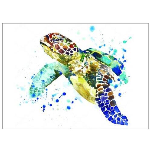 Цветной Набор алмазной вышивки Черепаха (LE015) 30x40 см