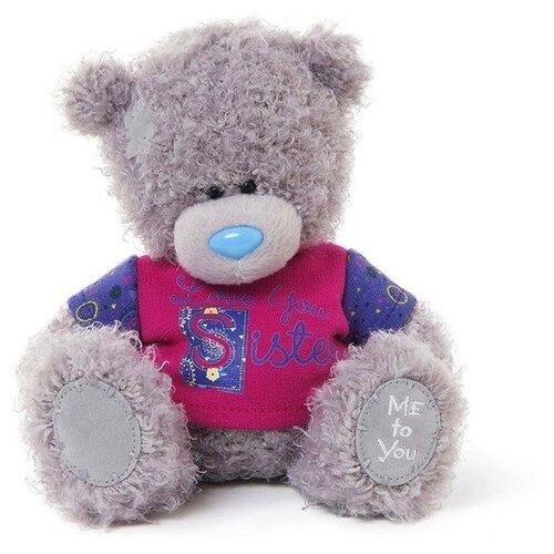 Купить Мягкая игрушка Me to you Мишка Тедди в футболке Love you sister 18 см, Мягкие игрушки