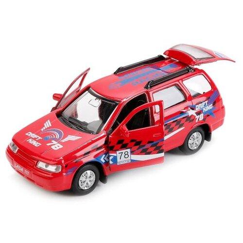 Купить Легковой автомобиль ТЕХНОПАРК Lada 111 Спорт (SB-16-67-S-WB) 12 см красный, Машинки и техника