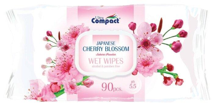 Влажные салфетки Ultra Compact с ароматом японской вишни 90 шт.