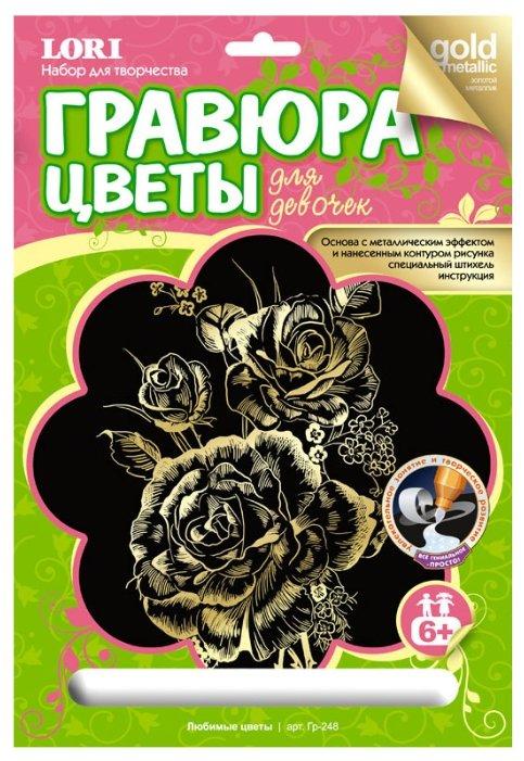 Гравюра LORI Любимые цветы (Гр-248) золотистая основа