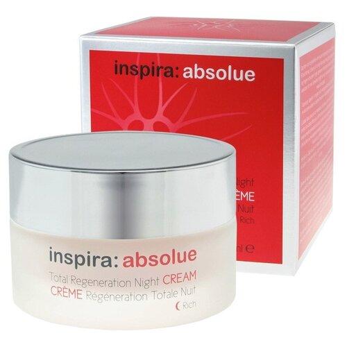 Купить Inspira Cosmetics absolue Total Regeneration Night Cream Rich Обогащенный ночной регенирирующий лифтинг-крем для лица, шеи и области декольте, 50 мл