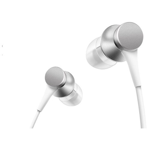 Наушники Xiaomi Mi In-Ear Headphones Basic silver наушники xiaomi mi in ear headphones basic violet