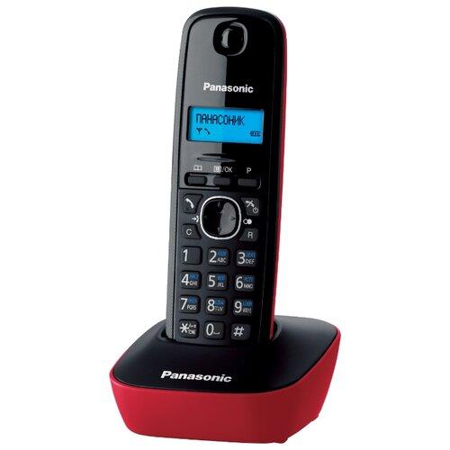 Радиотелефон Panasonic KX-TG1611 красный радиотелефон panasonic kx tg1611